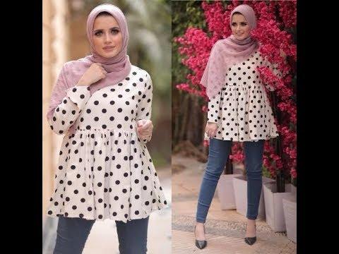 [VIDEO] - موديلات بلوزات صيفى 2019للمحجبات/ ملابس محجبات 2019_lookbook hijab 2019 7