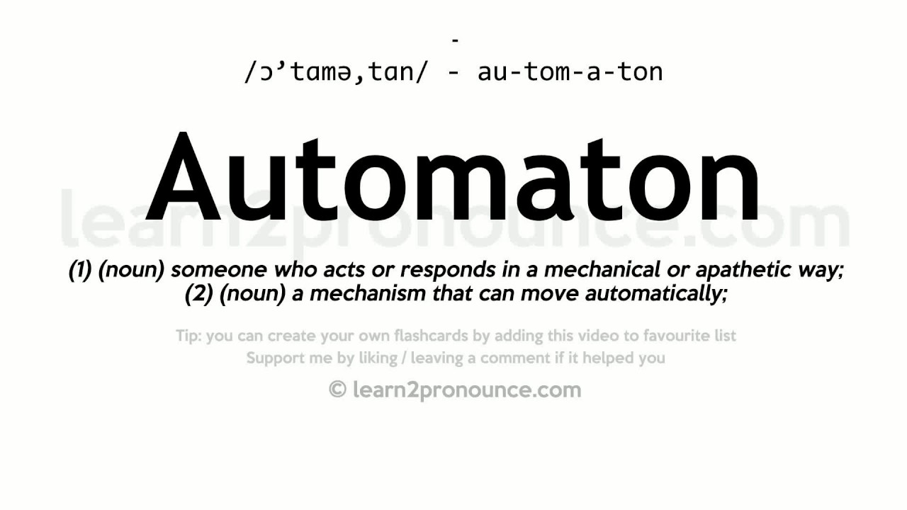 AUTOMATON DEFINITION EPUB DOWNLOAD