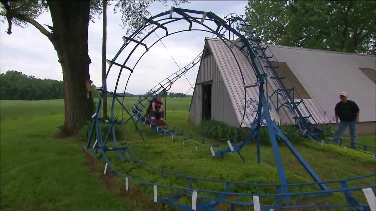 Backyard Roller Coaster | Indiana Oddities   YouTube