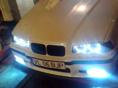 angel eyes projectors fadeout on bmw e36 youtube. Black Bedroom Furniture Sets. Home Design Ideas