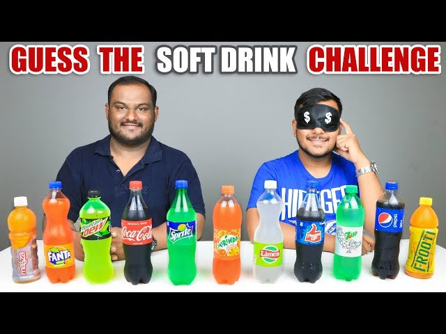 GUESS THE SOFT DRINK CHALLENGE | Cold Drinks Competition | Food Challenge
