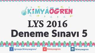 LYS 2016 Kimya Deneme Sınavı 5