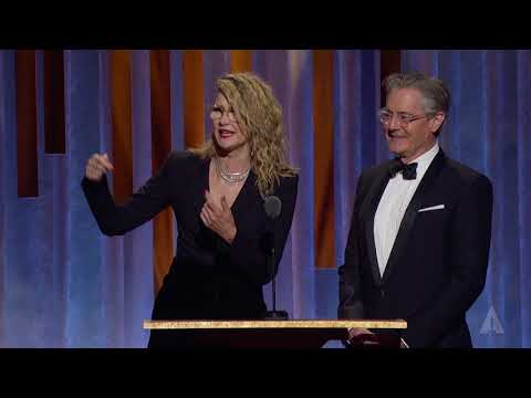 Laura Dern and Kyle MacLachlan honor David Lynch at the 2019 Governors Awards