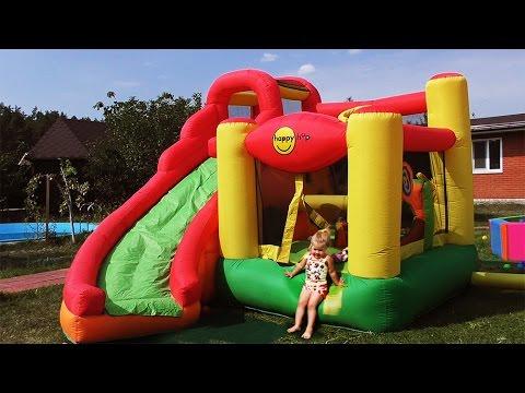 Hello Kitty на БАТУТЕ Хелло Китти Toys for Girls Игры Для Девочек Hello Kitty Kids trampoline