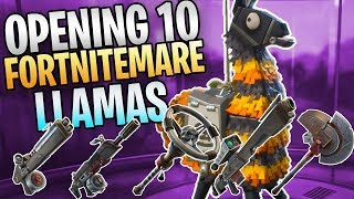 FORTNITE - Opening My First 10 Fortnitemare Llamas (Getting Every Rat Rod Weapon)