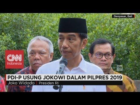 Resmi! PDI-P kembali Usung Jokowi di Pilpres 2019