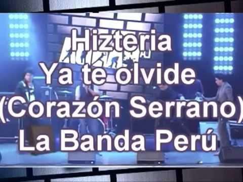 Hizteria-ya-te-olvide-LETRA-corazon-serrano 27/06/14