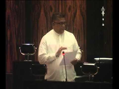 Abdulla Mahroof MP - Budget Speech-   Ministry of irrigation