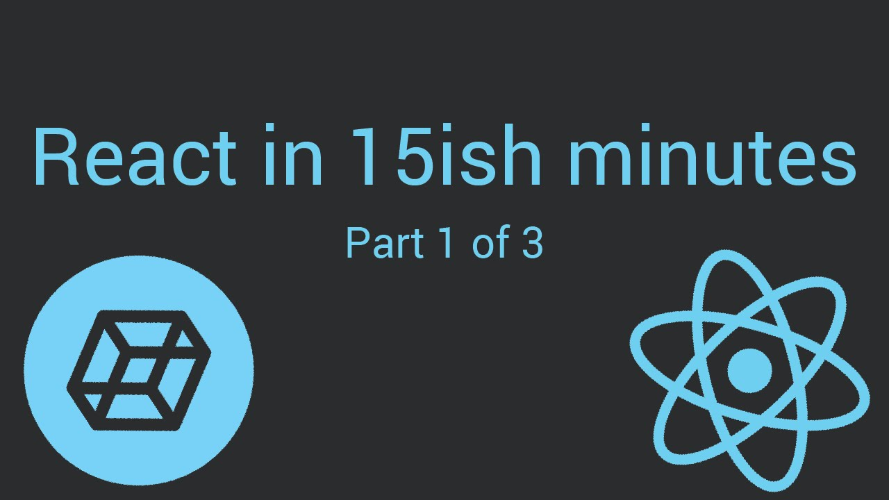 React in 15ish minutes - Reactjs Tutorial - [Part 1 of 3] - Codepen.io
