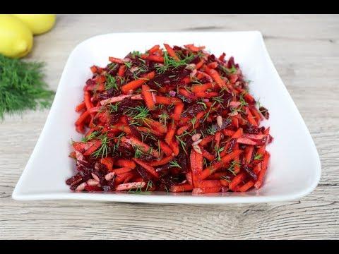 Свекольно морковный салат  Салат без майонеза