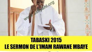 TABASKI 2015 - Le Sermon de l'Imam Rawane Mbaye
