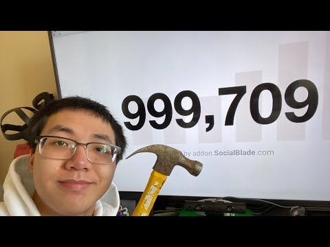 SMASHING THIS TV AT 1 MILLION SUBSCRIBERS - LIVE