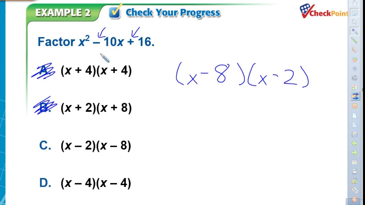 worksheet Factoring X2 Bx C Worksheet 8 6 solving ax2bxc0 youtube ax2bxc0