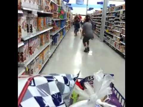 Belly-flop in supermarket