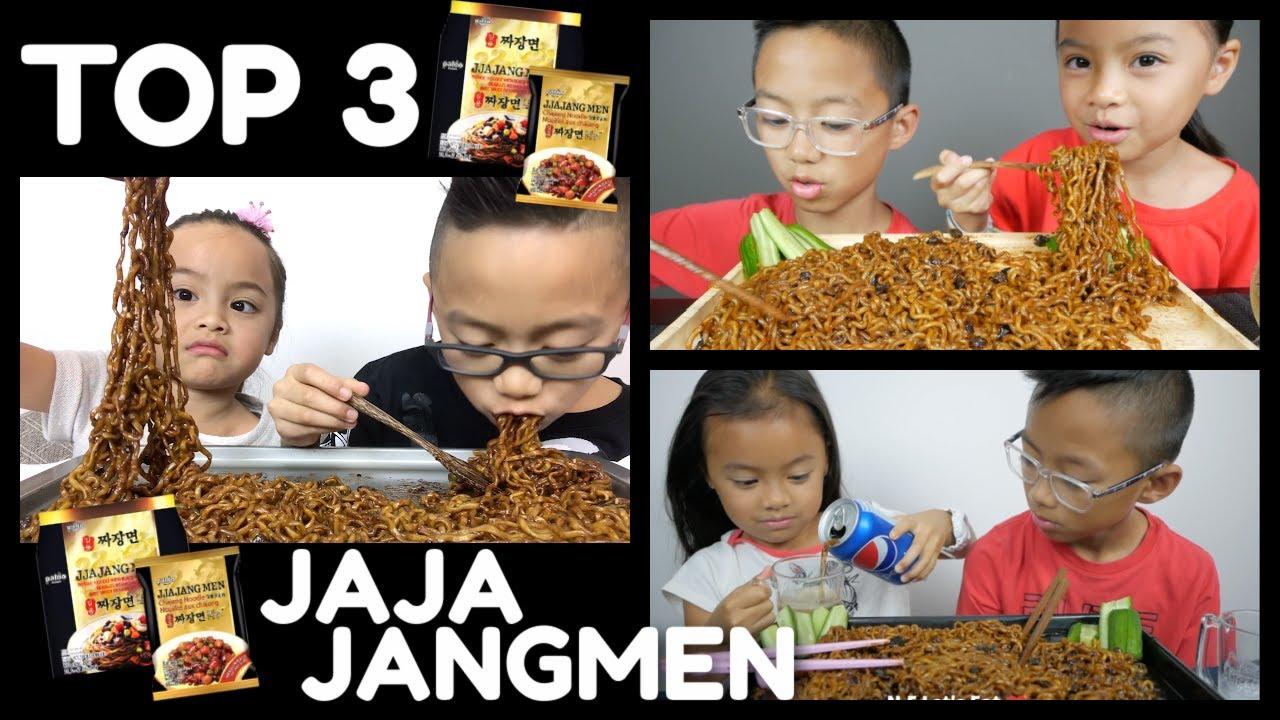 BEST OF Korean Black Bean Noodles Compilation *Brother & Sister Mukbang | N.E