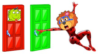 Lion Family becomes a Superhero and Helps Dad | Cartoon for Kids