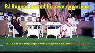 Funny RJ Raunac, Red FM at Aaj Tak   Unedited video   RJ Sayema   RJ Jassi