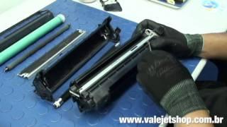 Vídeo Recarga Toner HP Q7553A | 53A | P2015 | M2727 - Vídeo Aula Valejet.com