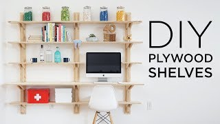DIY Plywood Shelves