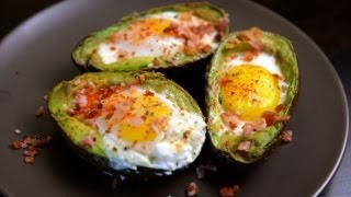 Baked Eggs And Avocados