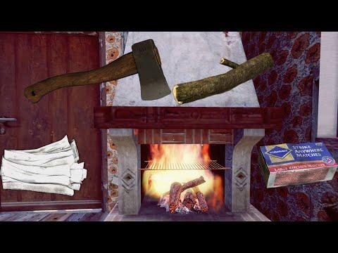 DayZ (XBOX ONE) How to Start Fire in House Chimney, Como Aser Fuego en Chimenea de Casa