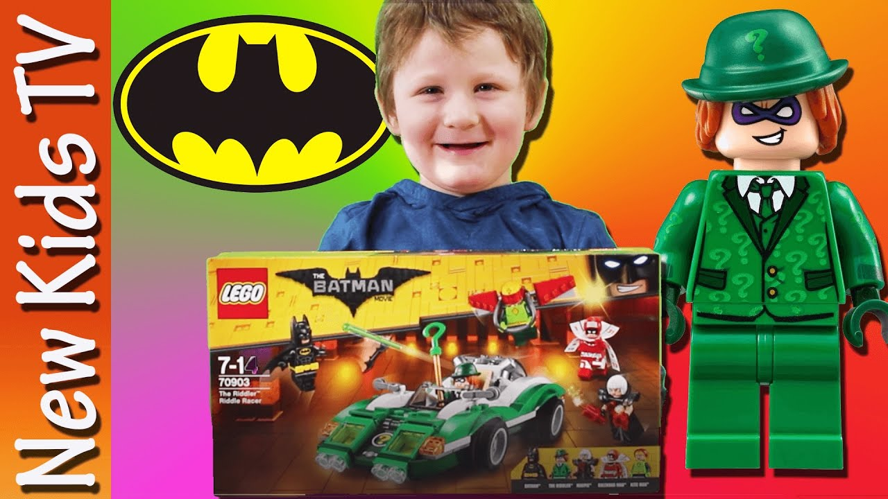 LEGO BATMAN - The Riddler Racer - Toy Review -  New Kids TV