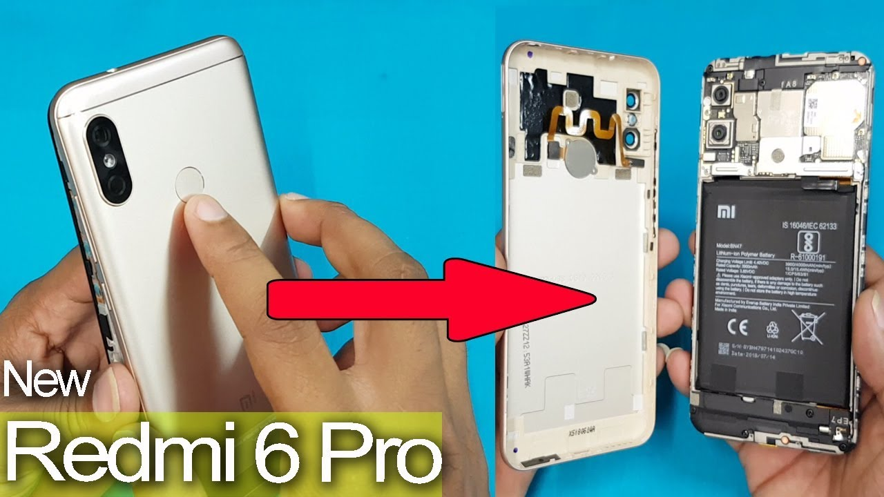 new style 0a5b9 839b9 Xiaomi Redmi 6 Pro - What's Inside Redmi 6 Pro Back Panel || How to Open  Redmi 6 pro Back Case