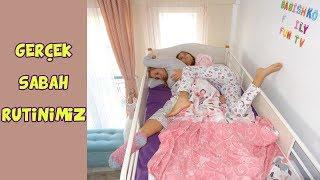 GERÇEK SABAH RUTİNİMİZ | UYKUCU KIZLAR | MY REAL MORNING ROUTINE - Eğlenceli Çocuk Videosu
