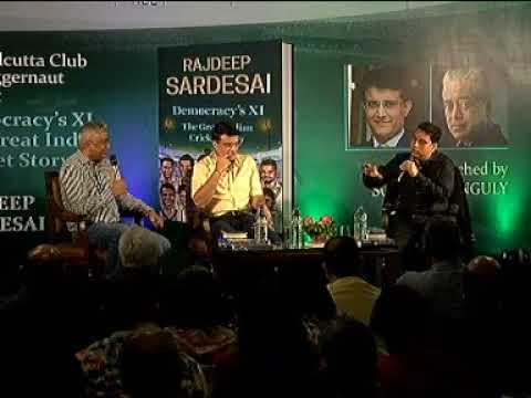 Saurav Ganguly launching Rajdeep Sardesai Democracy's XI in Kolkatta, Listen to the conversation