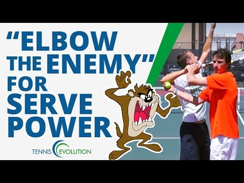 "TENNIS SERVE | ""Elbow The Enemy"" Tennis Serve Drill"