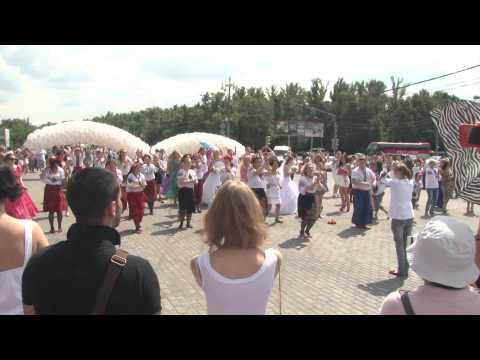 Видео, Флешмоб Корчмы Тарас Бульба на Воробьвых горах