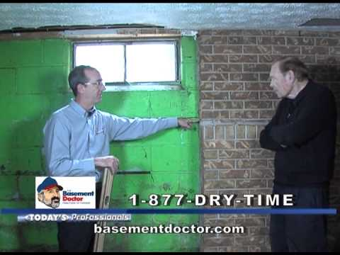 Bowing Basement Walls Behind The Drywall | The Basement Doctor | Live On A  Job Part 2