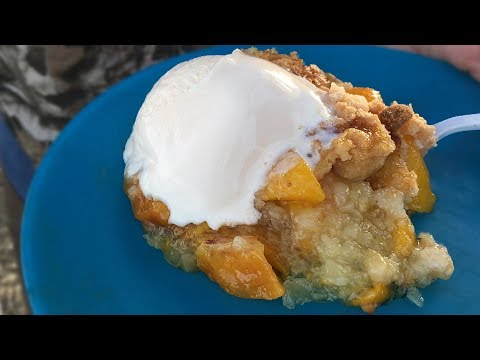 The Best Peach Cobbler Dutch Oven Recipe – Outdoors With Trav
