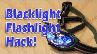 Blacklight Flashlight Hack! Nasty stain locator!