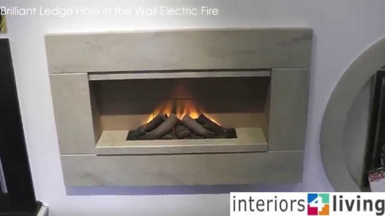 ex display brilliant ledge electric hole in the wall fire youtube