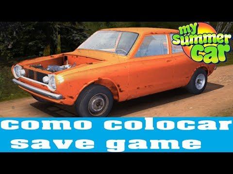 MY SUMMER CAR - Como colocar save game #7