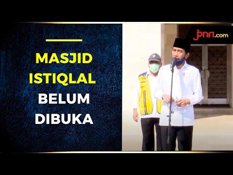 Tinjau Masjid Istiqlal, Jokowi Belum Mau Buka Tempat Ibadah