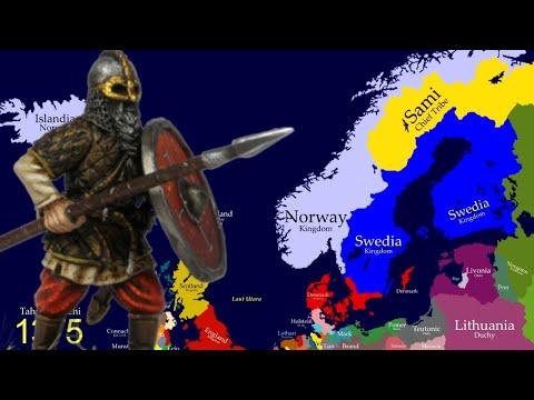 Peta Sejarah Negara-negara Scandinavia ( History Map Scandinavia : Denmark, Swedia, Norway, Finland)