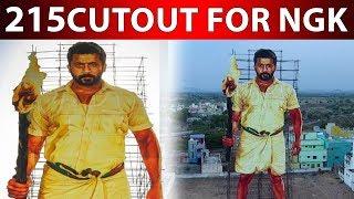 Worlds Largest CutOut For NGK Suriya | 215 Feet CUTOUT