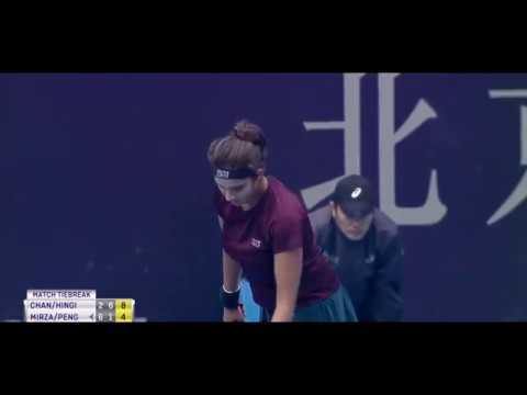 Sania Mirza & Shuai Peng vs Yung Jan Chan & Martina Hingis - Semi Final in Beijing