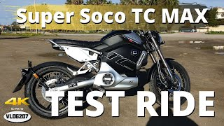 Super Soco TC MAX - Test Ride/Review (ENGLISH) - VLOG207 [4K]