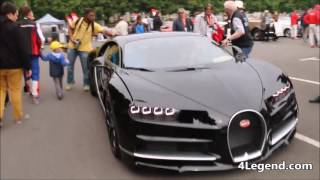 Accélération moteur Bugatti Chiron Parade des Pilotes 24h 2016