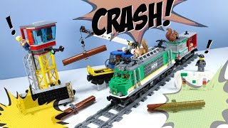LEGO City 2018 Cargo Train Powered Up and Ride Track Layout