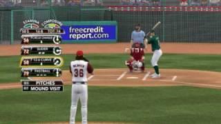 MLB 2K9 PC Gameplay OAK Athletics @ LAA Angels 20090925 9th Top