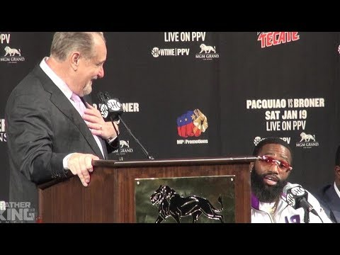 Adrien Broner DESTROYS Al Bernstein for asking him a question at Manny Pacquiao press conference