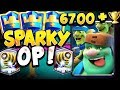 6700+ LIVE LADDER GAMEPLAY WITH BEST SPARKY DECK! - CLASH ROYALE