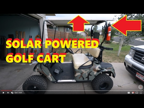 Solar Powered Golf Cart (36V cart &120 watt panel)