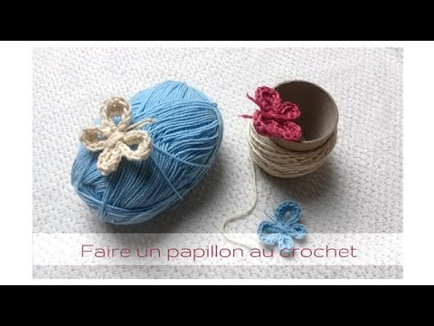 tuto comment faire un papillon au crochet youtube. Black Bedroom Furniture Sets. Home Design Ideas
