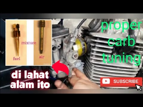how to tune carburetor properly/fuel air mixture(tagalog)