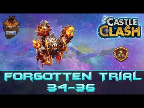 Insane Forgotten Trial 34-36 - Hero Setup | Castle Clash